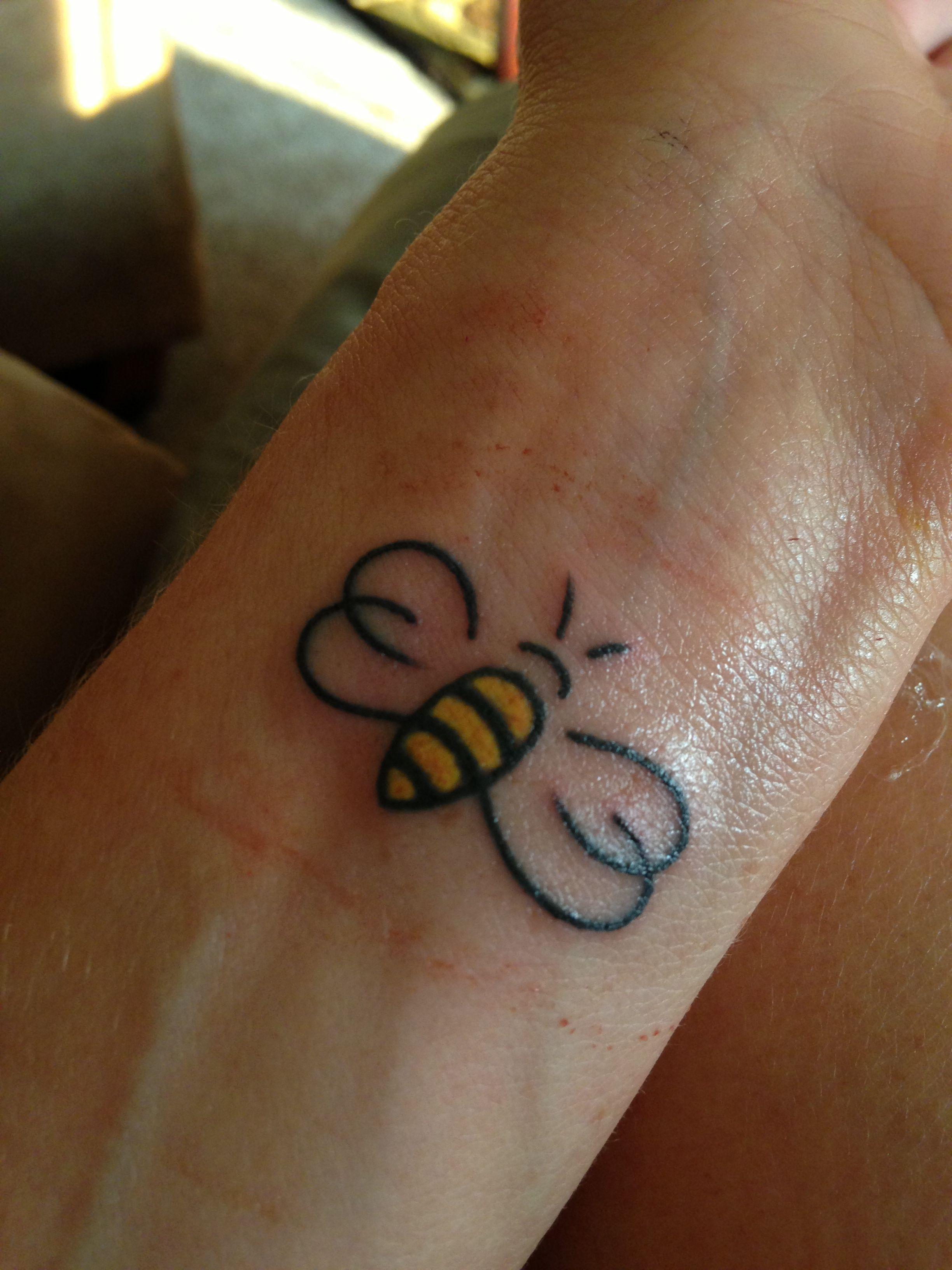 My Honeybee Bee Tattoo Honey Bee Tattoo Foot Tattoos
