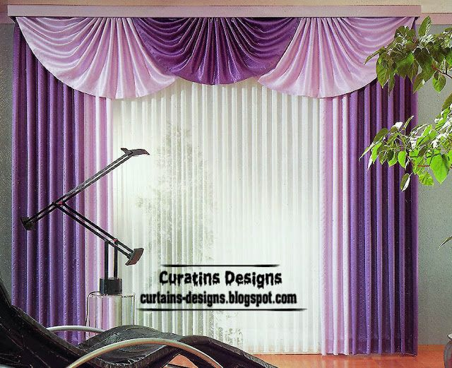 modern purple curtain new design ideas interior bedroom | Curtains ...