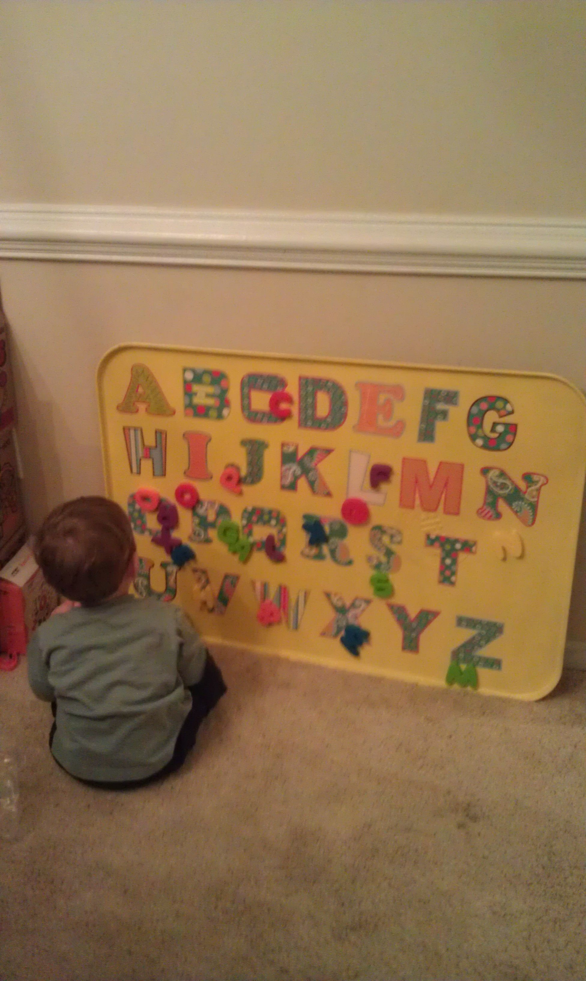 Abc board great for kids to learn their letters