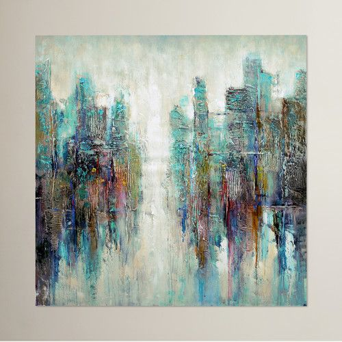 Found it at allmodern reflection painting print on wrapped canvas