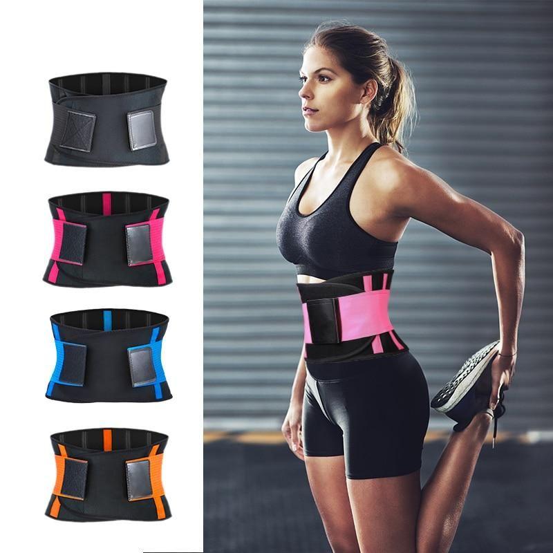 Big Deals Adjustable Waist Back Support Waist Trainer Trimmer Belt Sweat Utility Belt For Sport Gym Fitness In 2021 Waist Trimmer Waist Trainer Waist Trimmer Belt