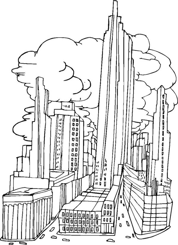 New York City Picture Coloring Page Coloring Sun Bird Coloring Pages Detailed Coloring Pages Coloring Pages For Kids