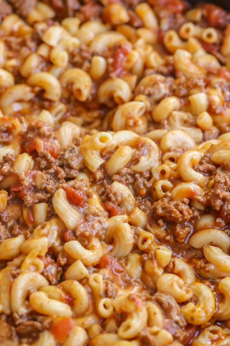 Cheesy Beef Goulash #familyrecipes