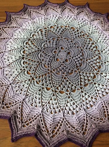 Lotus & Blossom Mandala pattern by Mark Roseboom #crochetmandalapattern