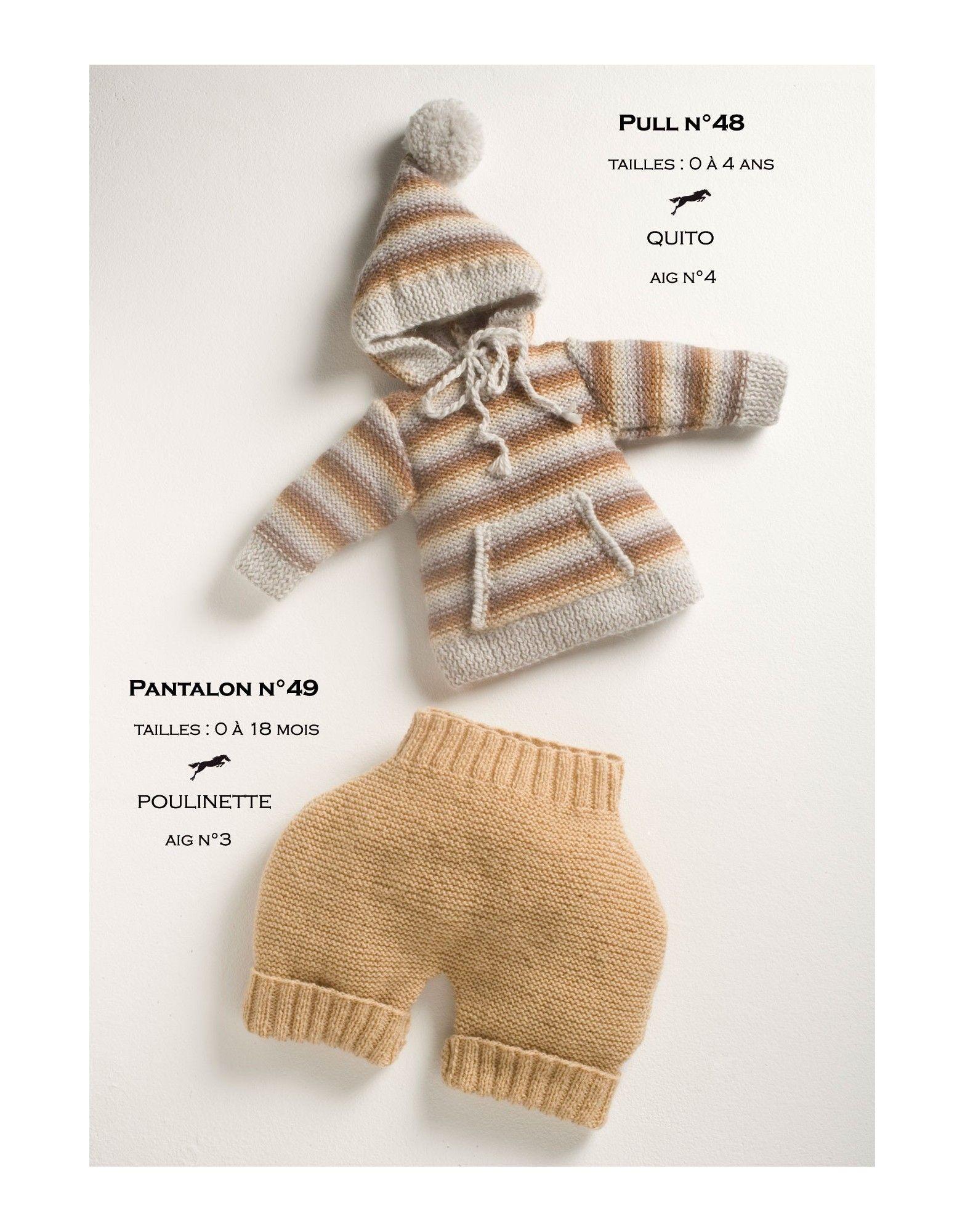 Model jumper cb13-48 - free knitting pattern - Cheval blanc | Baby ...