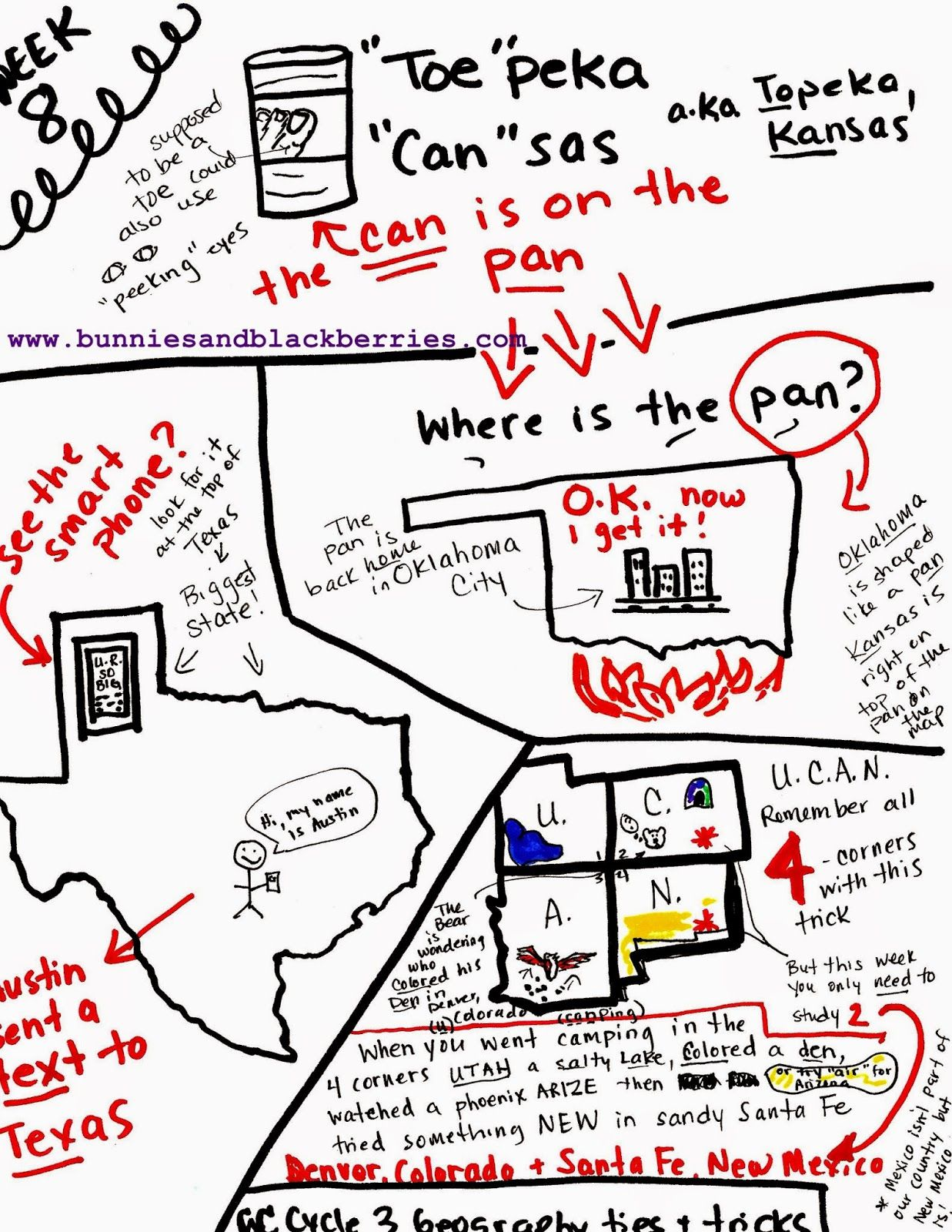 Bunnies And Blackberries Classical Conversations Cycle 3 - How To Memorize The Us States Map