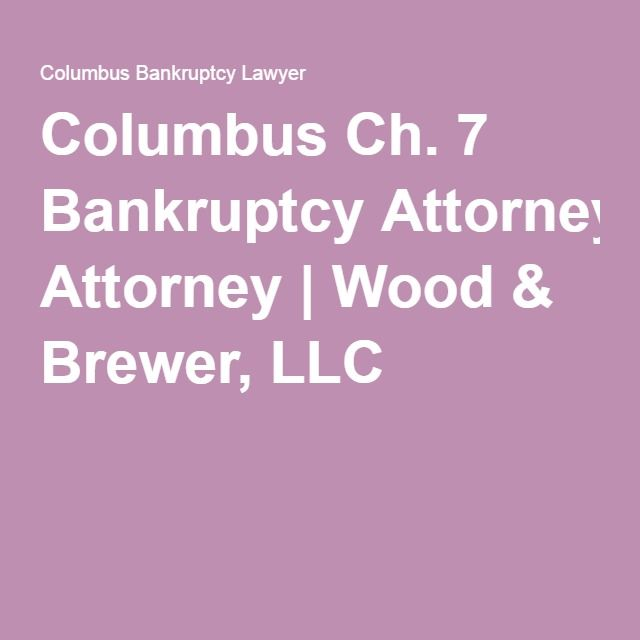 ohio bankruptcy laws chapter 13