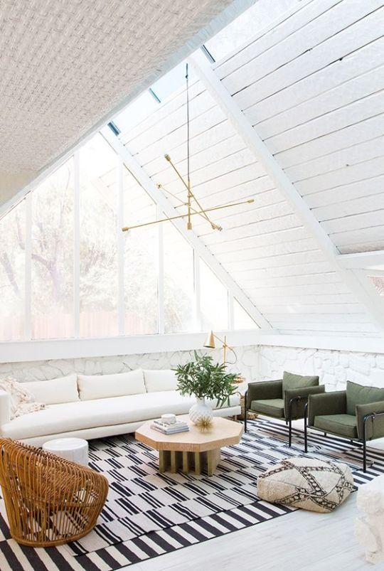 Wonderful Sarah Sherman Samuelu0027s Remodeled Palm Springs A Frame Living Room.