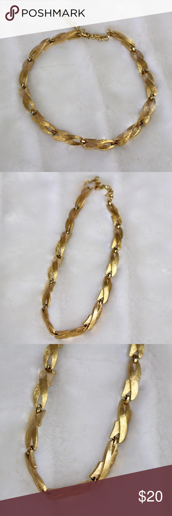 Vintage Monet Gold Necklace Monet jewelry Gold necklaces and