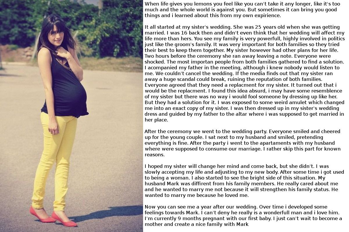 Pregnant Transformation Captions Images - Reverse Search-1656