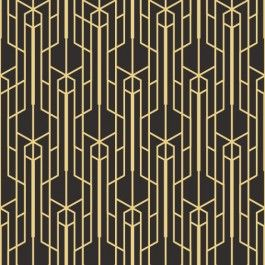 Gold Art Deco Wallpaper Pattern Perfect For Creating A Touch Of