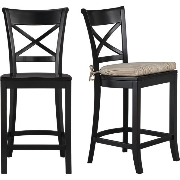 Crate And Barrel Vinter Stools Black Bar Stools Bar Stools