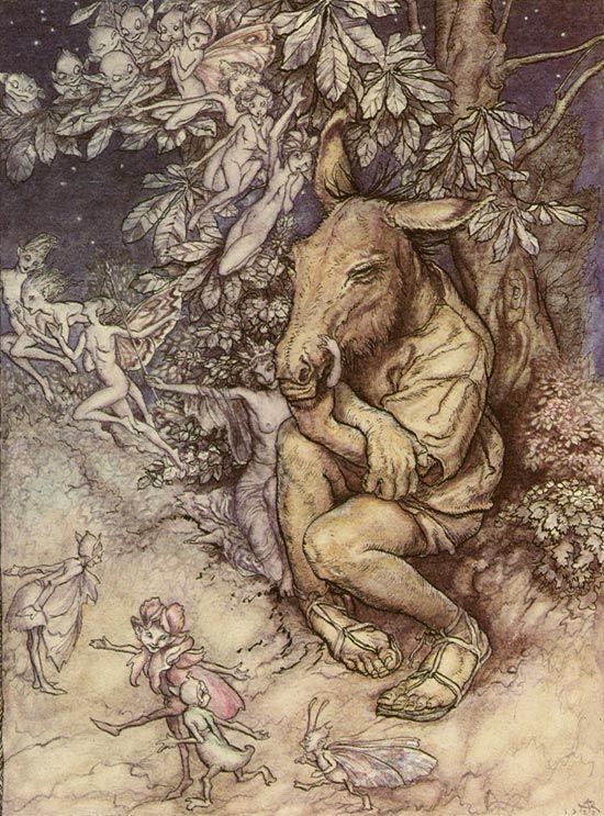 Bear the changeling child ARTHUR RACKHAM Poster Midsummer Night/'s Dream