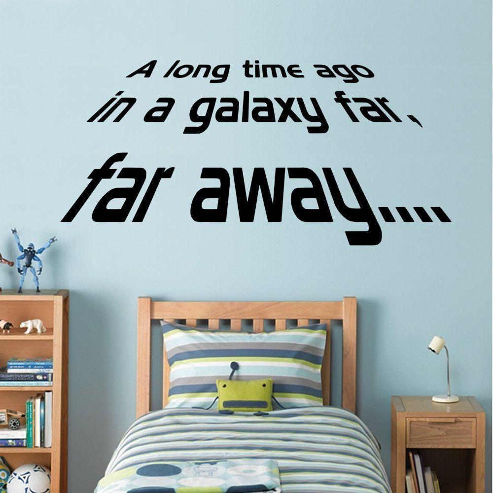 Star Wars - A long Time Ago - Wall Decal Art Sticker boy\'s bedroom ...