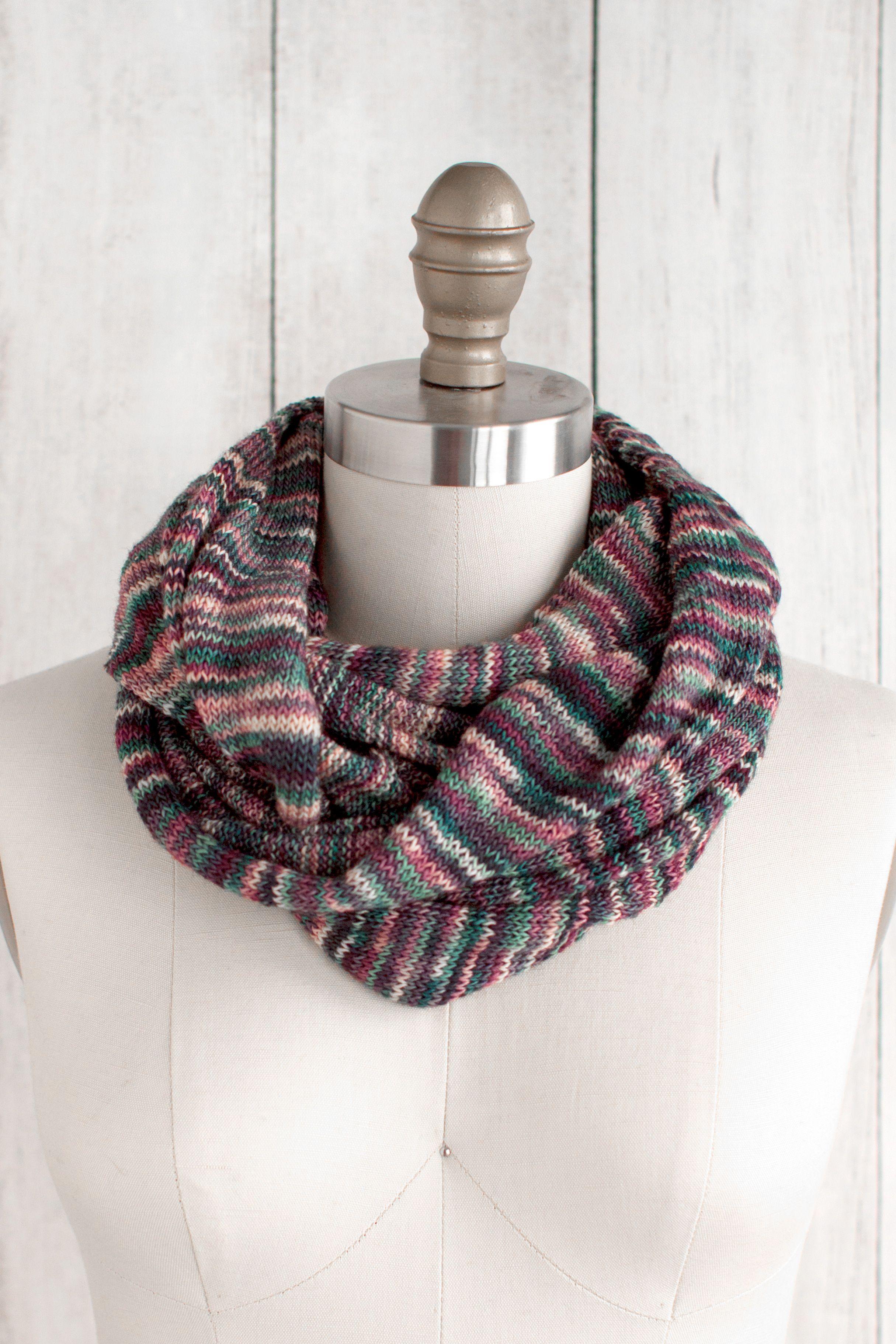 Marina Circle Scarf Free Knitting Pattern | Infinity scarf ...