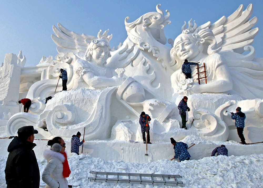 Inspiring Winter: Ice and Snow Sculpture Festival in China