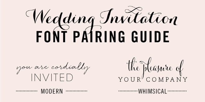 Good Font Combinations For Wedding Invitations