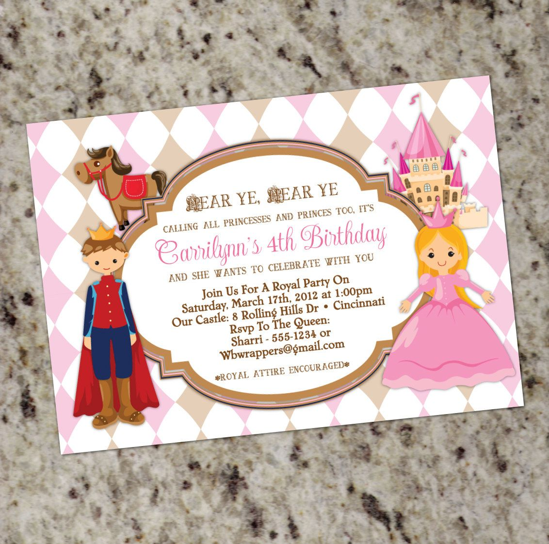 Princess and Prince - Birthday Party Invitations - Calling All ...