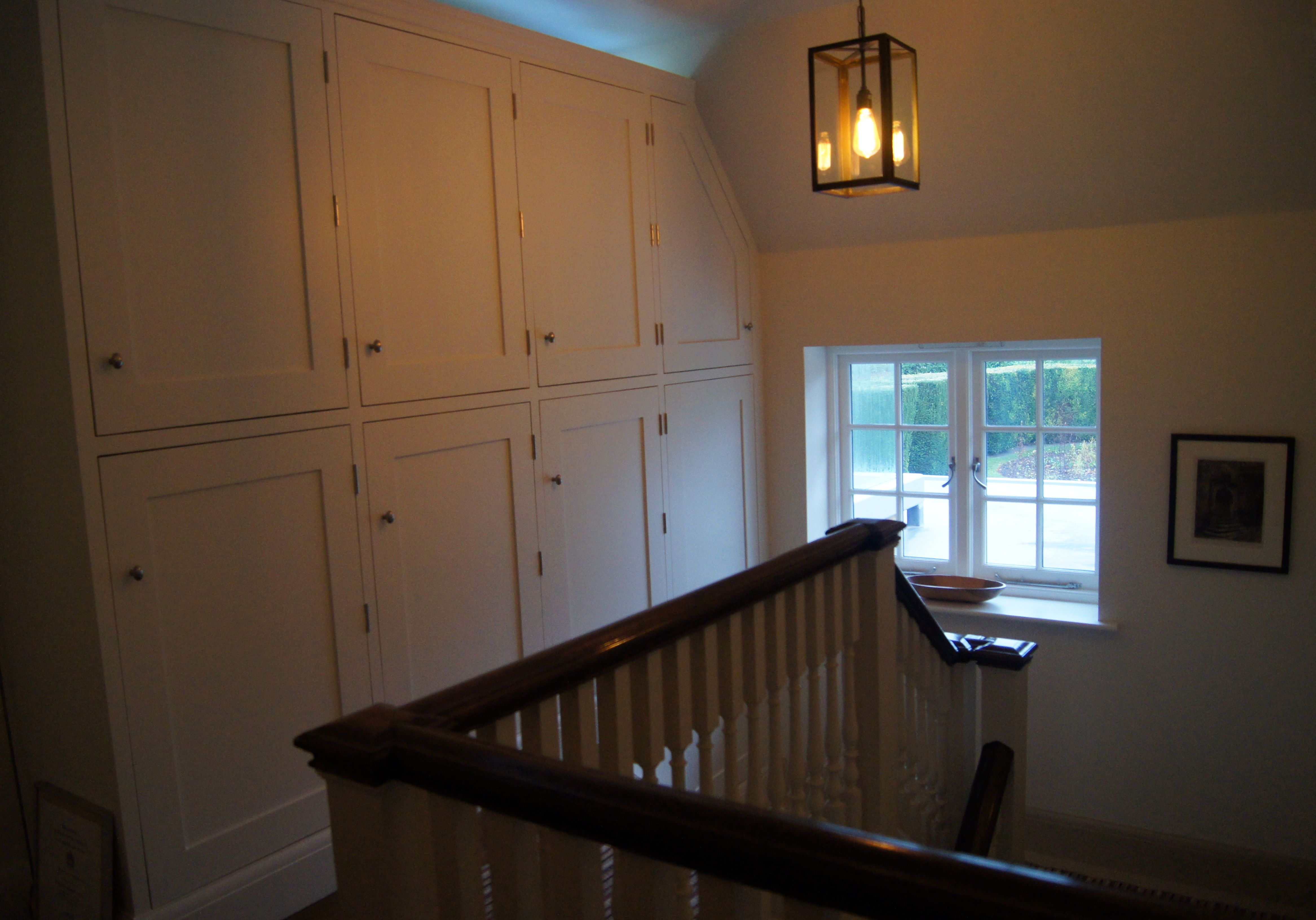 Hanging Pendant Over Stairs