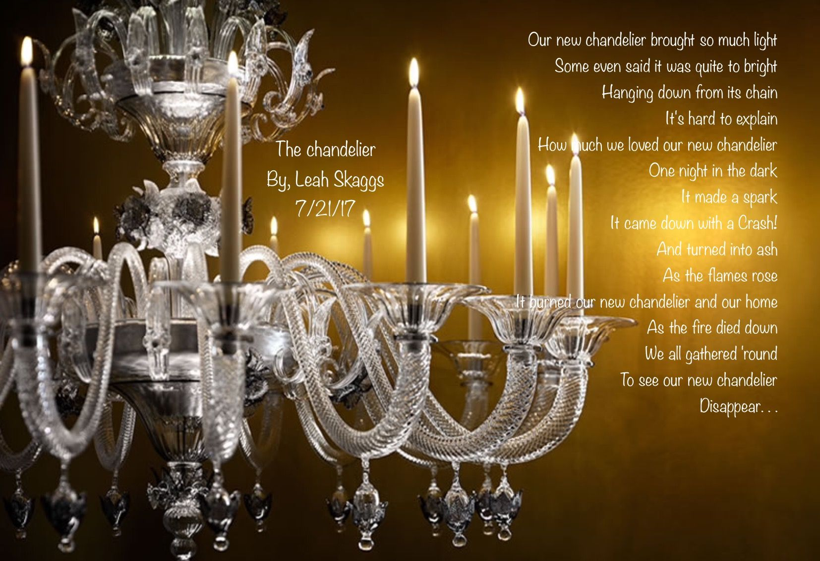 Pin by leah renee skaggs on my poems pinterest poem levante chandelier let there be light with candles pursuitist aloadofball Gallery