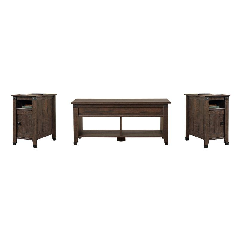 Chantrell 3 Piece Coffee Table Set With Images 3 Piece Coffee