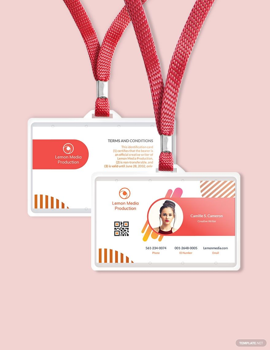 Creative Employee Id Card Template Free Pdf Word Psd Apple Pages Illustrator Publisher Employee Id Card Id Card Template Business Card Template Design