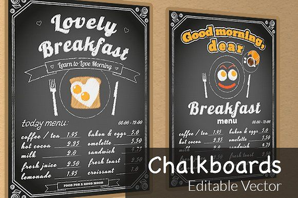two vector chalkboards chalkboards brochures and photoshop