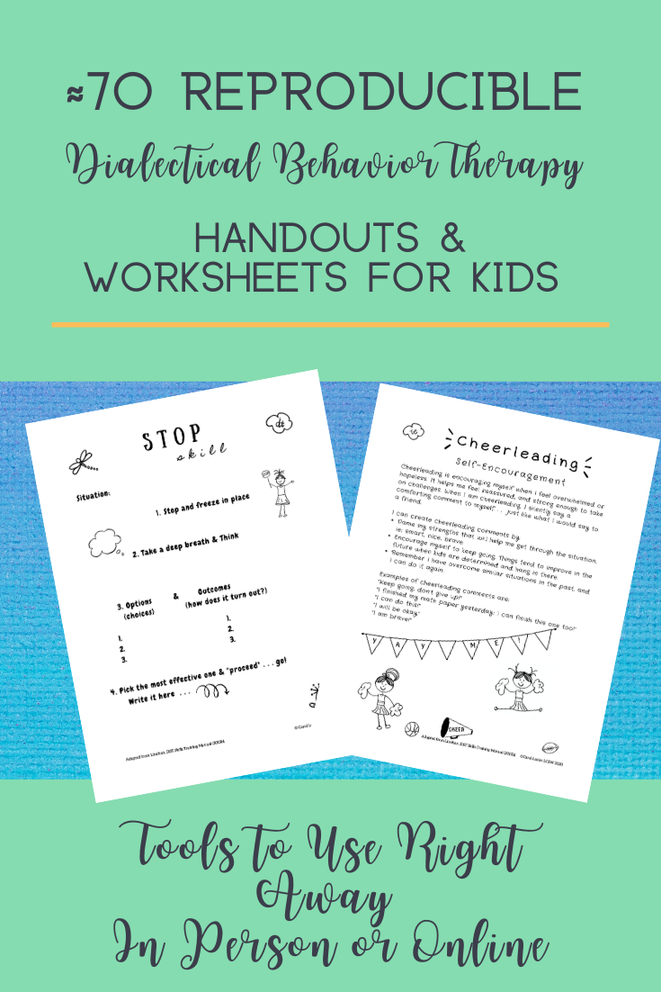 ≈70 Reproducible DBT Handouts and Worksheets for Kids in ...