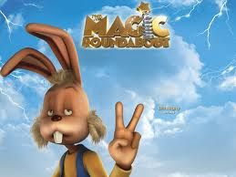 Magic Roundabout: apparently this show was around in the 1970's, and has been re-animated for the next generation. The main character, a dog named Dougal, is a grumpy pesimist, but the stoned bunny-rabbit is pretty awesome.