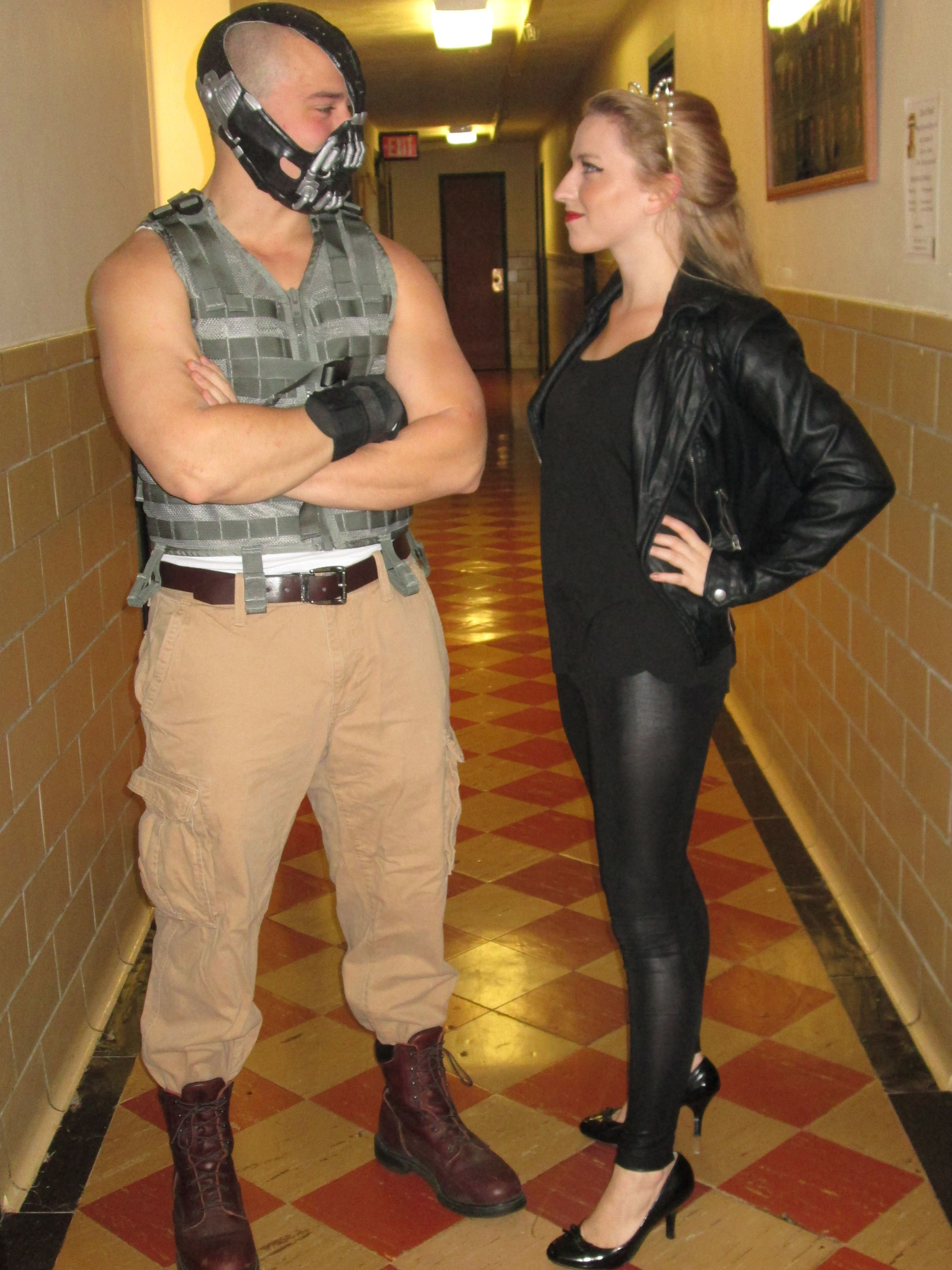 My boyfriend and I as Bane and Cat Woman for under forty bucks ...