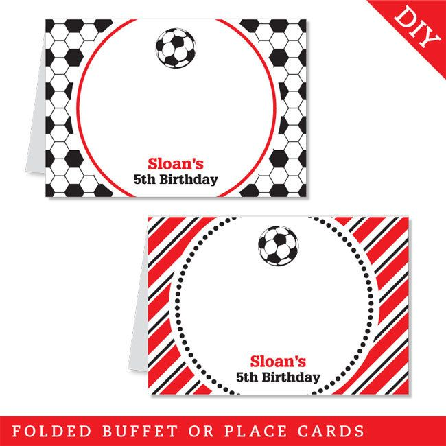 soccer place cards - Google Search Bar Mitzvah Pinterest Place