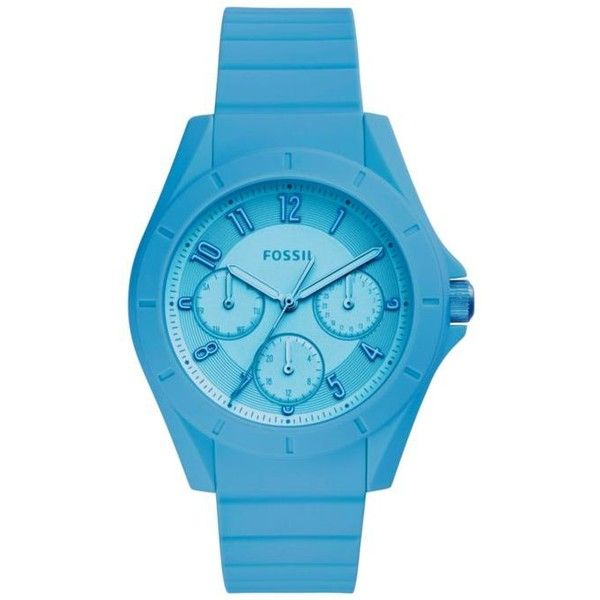 Fossil Blue Womens Poptastic Sports Watch - Women's (225 BRL) ❤ liked on Polyvore featuring jewelry, watches, blue, blue wrist watch, blue jewelry, sport watch, fossil jewelry and fossil watches