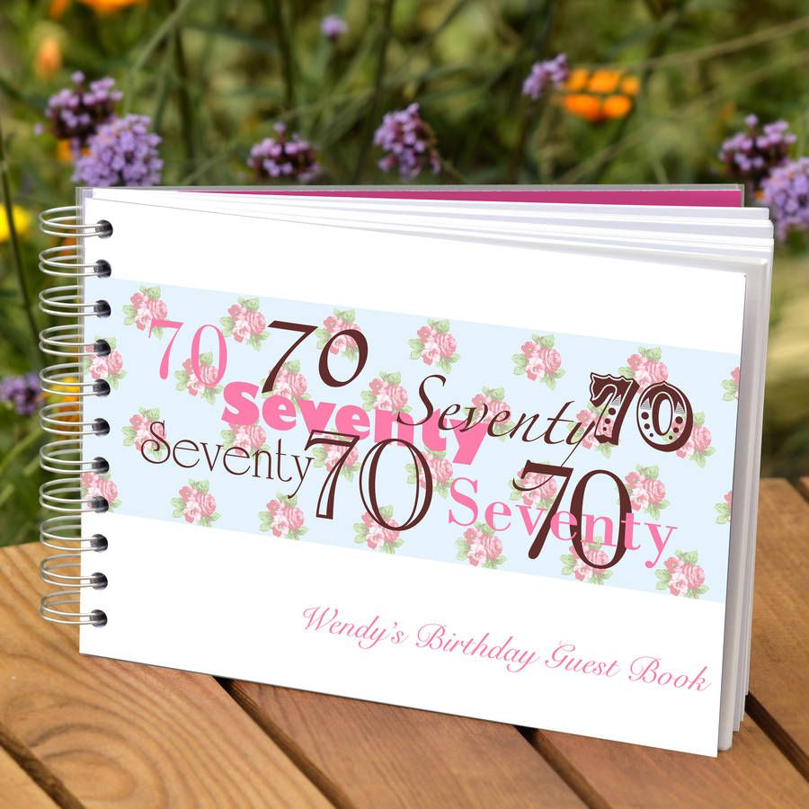 personalised 70th birthday guest book by amanda hancocks | notonthehighstreet.com