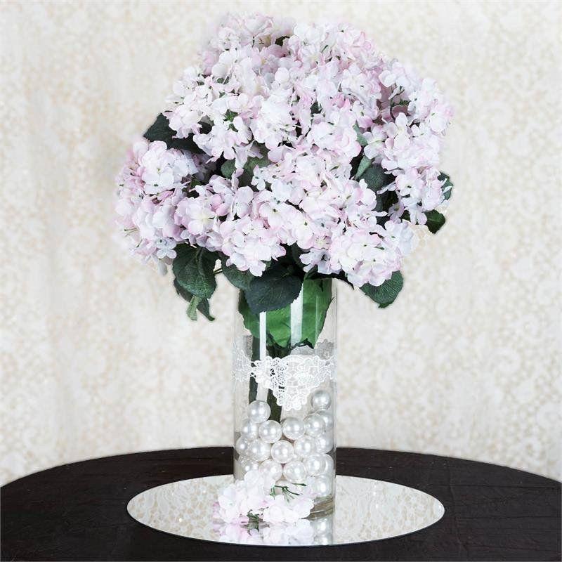Artificial Hydrangea Bush - Pink