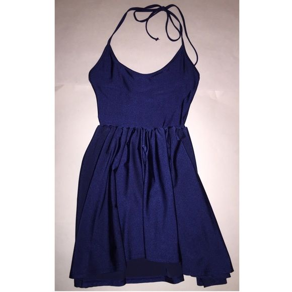 American apparel navy skater dress size small S Nylon tricot skater dress. In excellent condition. Very flattering style. American Apparel Dresses Mini