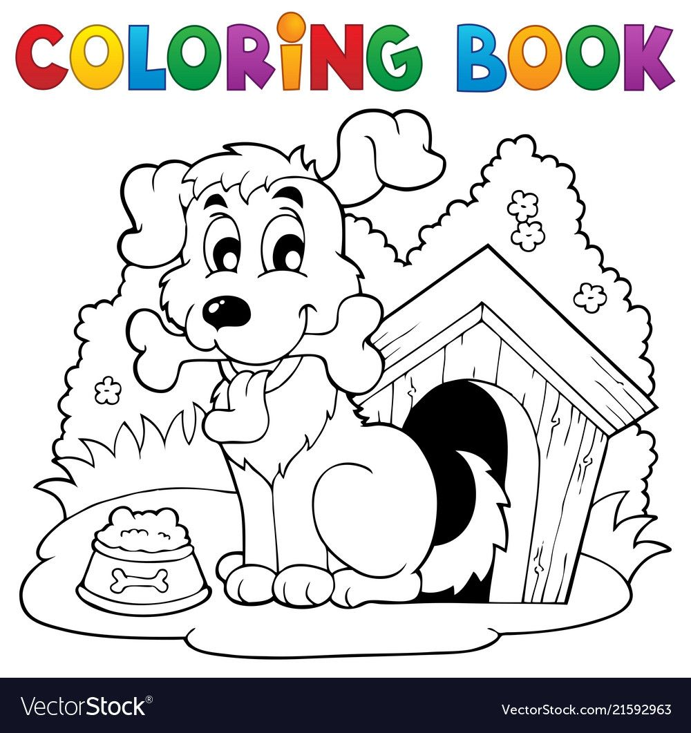 Coloring Book Dog Theme 1 Eps10 Vector Illustration Download A Free Preview Or High Quality Adobe Il Coloring Books Unicorn Coloring Pages Dog Coloring Page