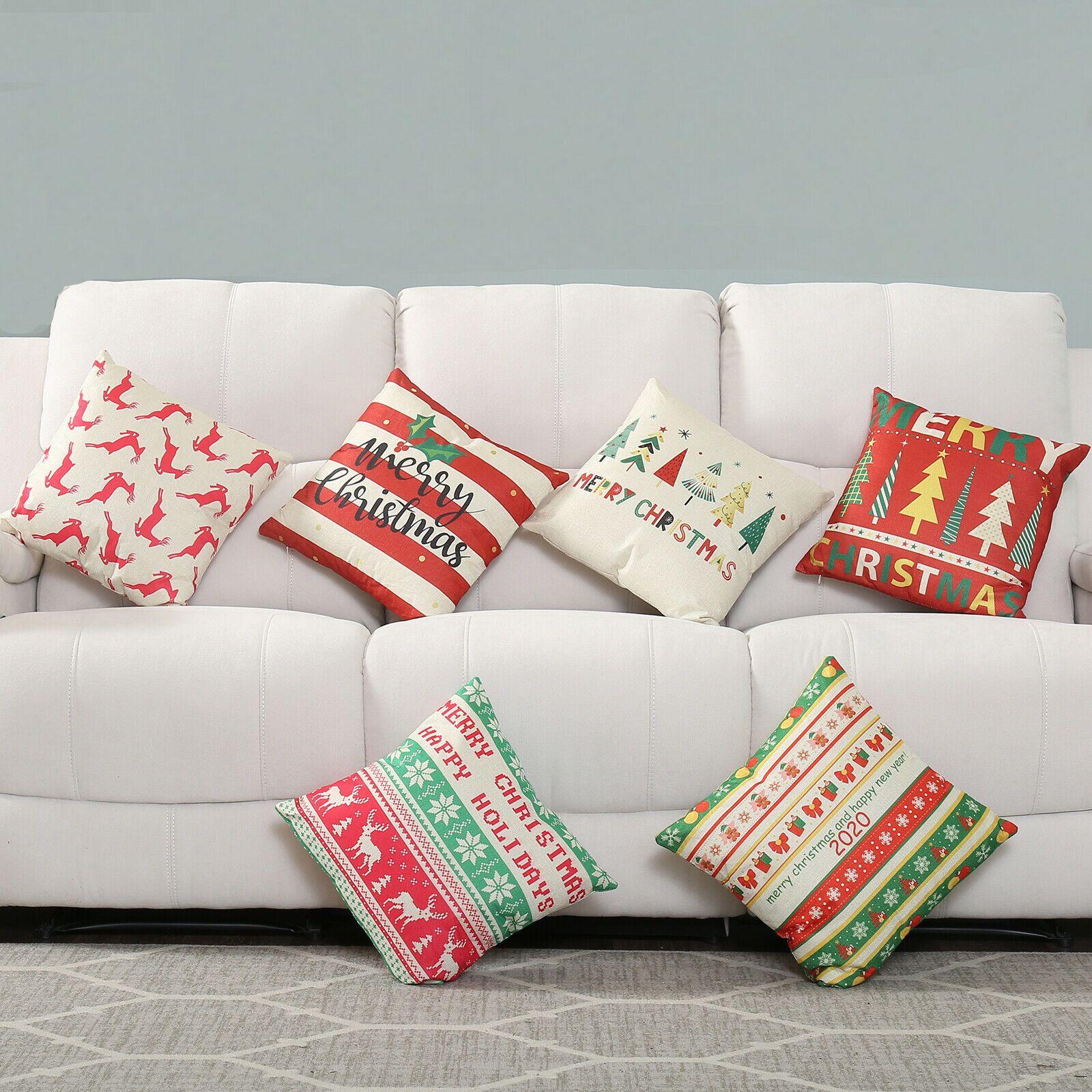 Christmas Pillow Case Sofa Car Throw Cushion Covers Home Decor Holiday Gift New Sofa Cushions Idea Cushions For Sale Cushions On Sofa Christmas Pillowcases