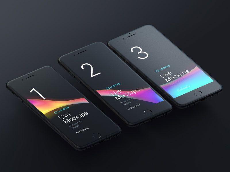 Download 8 Free Black Matte Devices Mockups Iphone Mockup Iphone Mobile Mockup