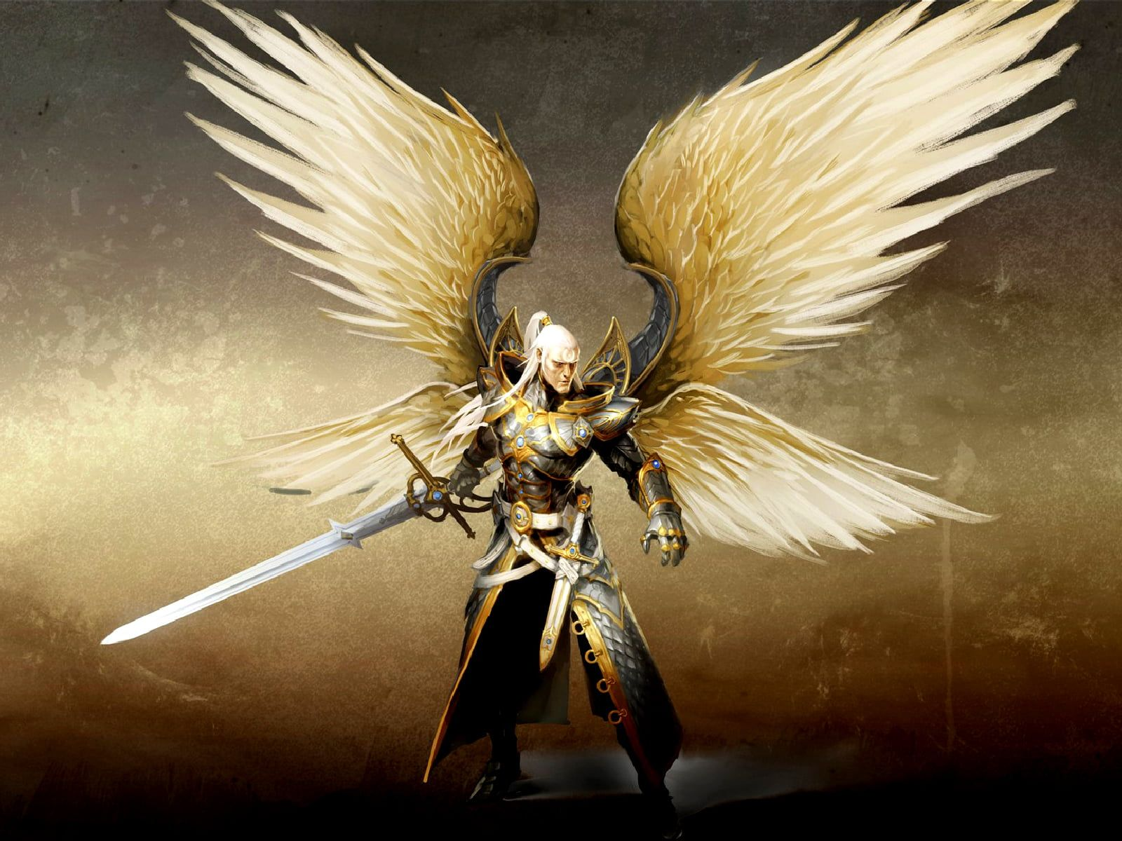 Man With Wings Holding Sword Wallpaper Angel Might And Magic Video Games Fantasy Art Artwork Sword Wings 720p W Angel Warrior Fantasy Warrior Fantasy Art