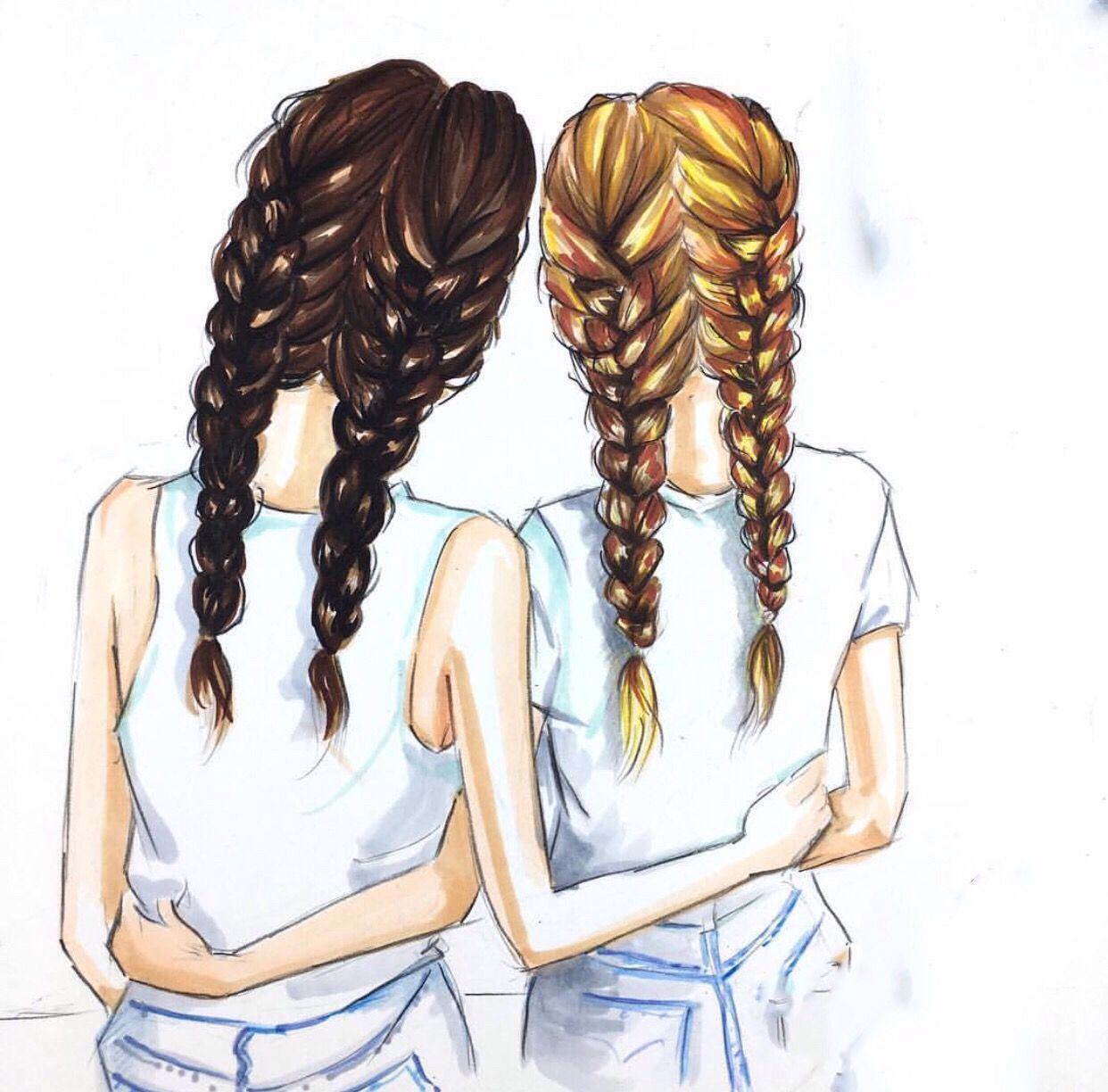 Про спортзал, картинки две подружки для срисовки