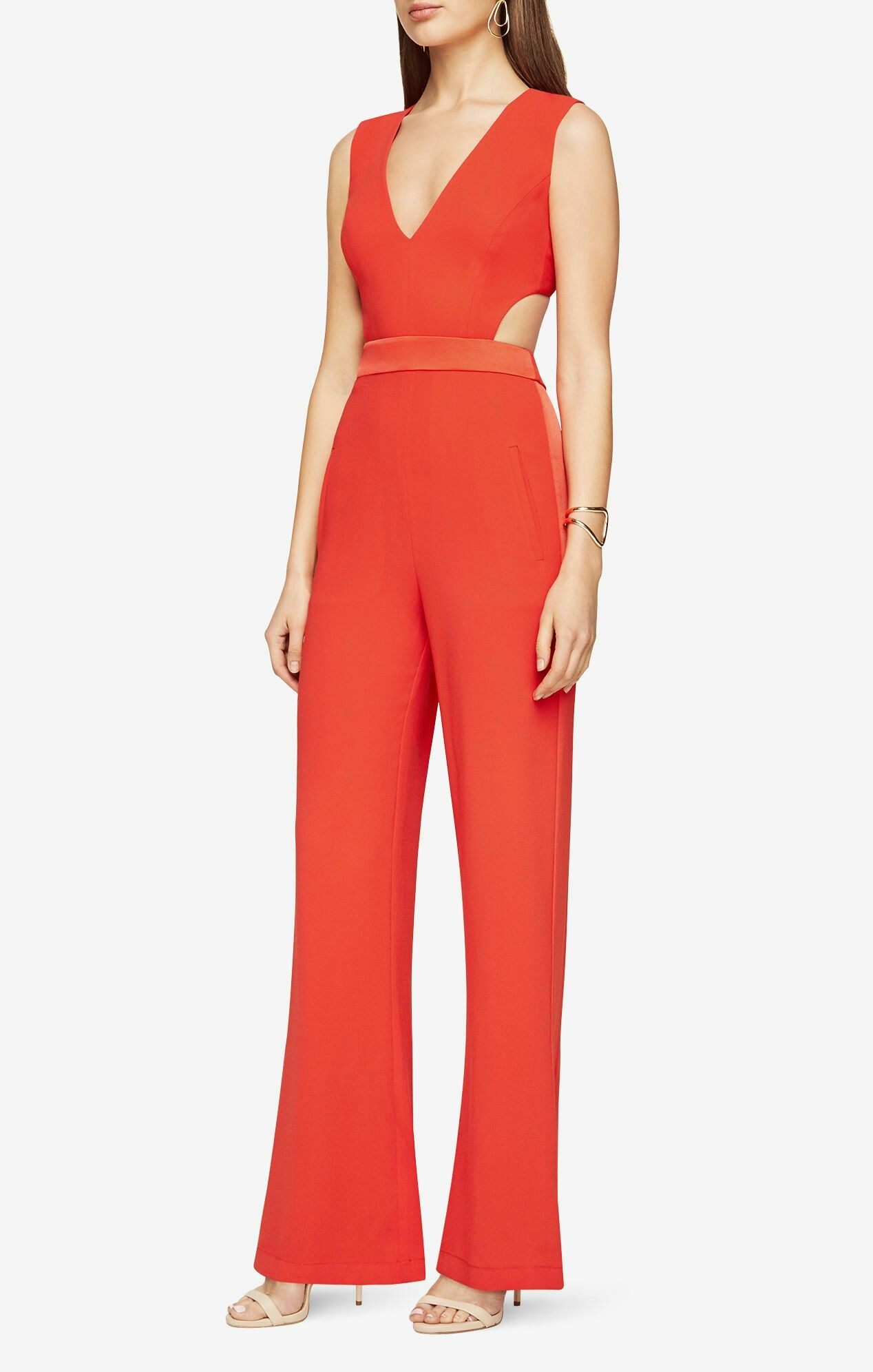 970aa98ca0ee BCBGMAXAZRIA  Emjay  Cutout Ponte Jumpsuit available at  Nordstrom ...