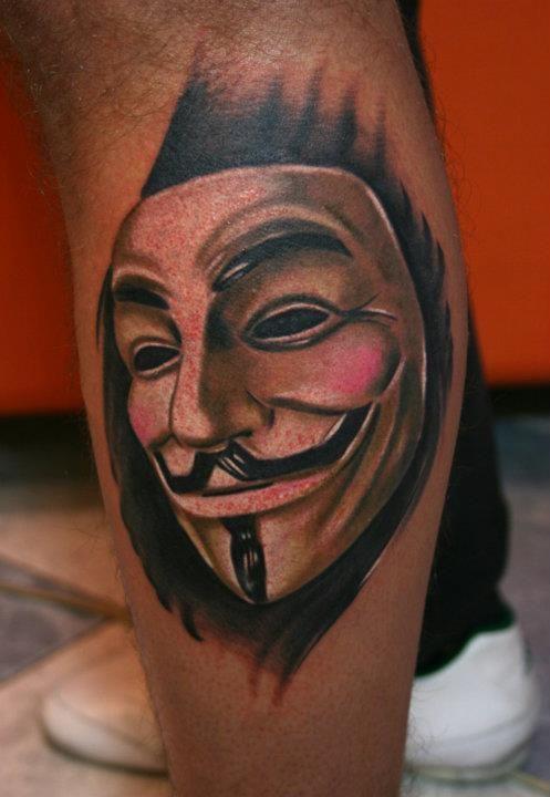 Guy Fawkes Mask V Tattoo V For Vendetta Tattoo Tattoos