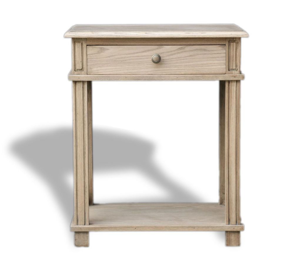 Provincial Bedside Tables Hamptons Halifax One Drawer Bedside Lamp Table Nightstand