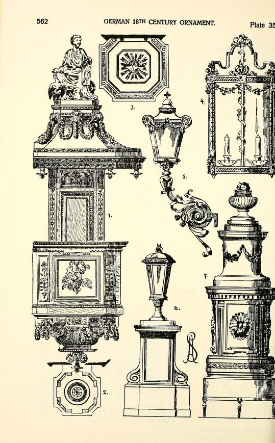 """more@ - Image Plate from Alexander Speltz's 1906 book, """"Styles of Ornament""""."""