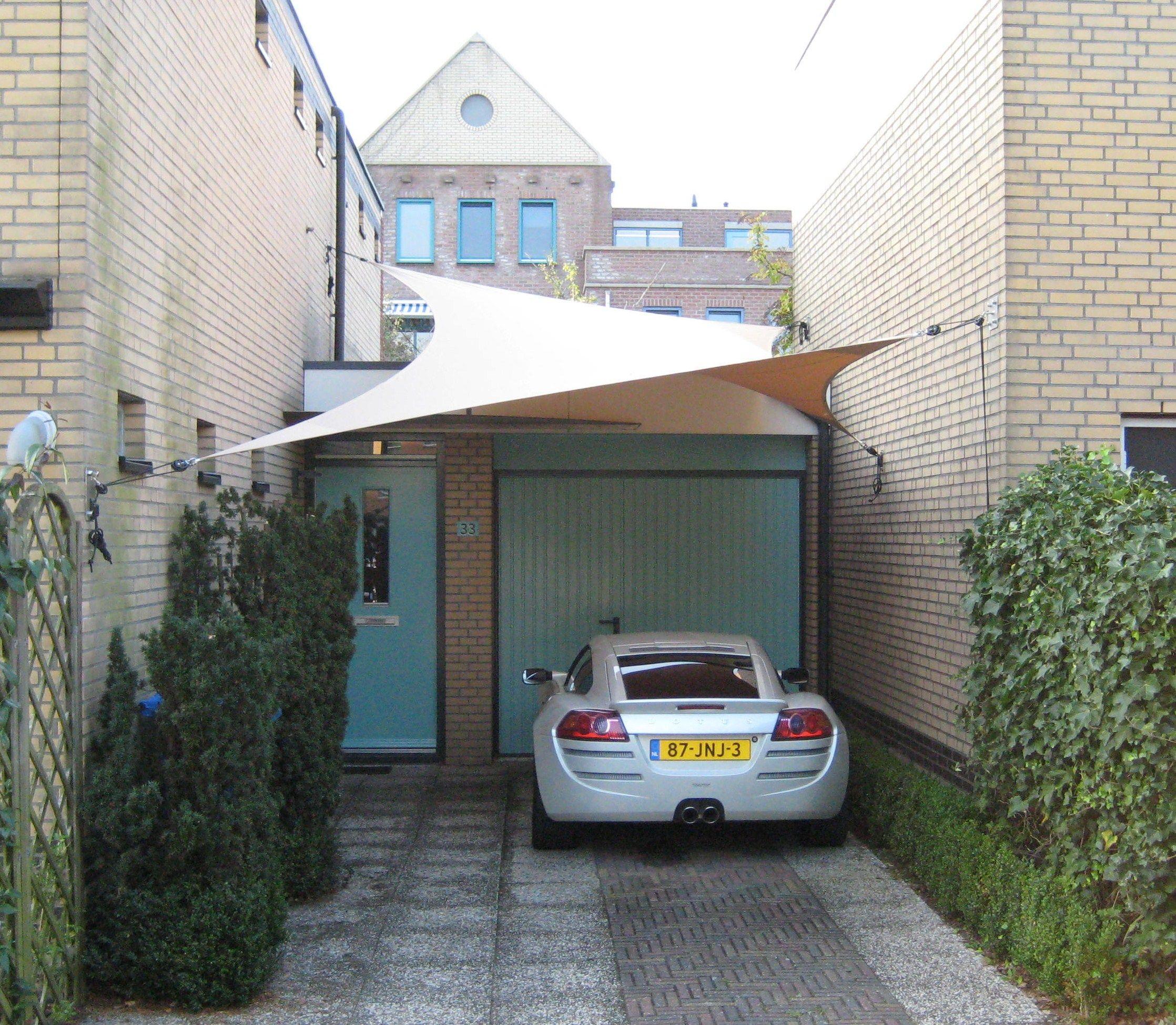 ShadowArt design carport op maat gemaakt zeil structuur gespannen ...