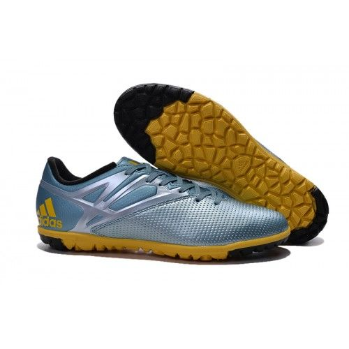 competitive price b6228 fc46e Adidas MESSI 15.3 TF, Chaussure de Foot Adidas Homme Silver Or noir.