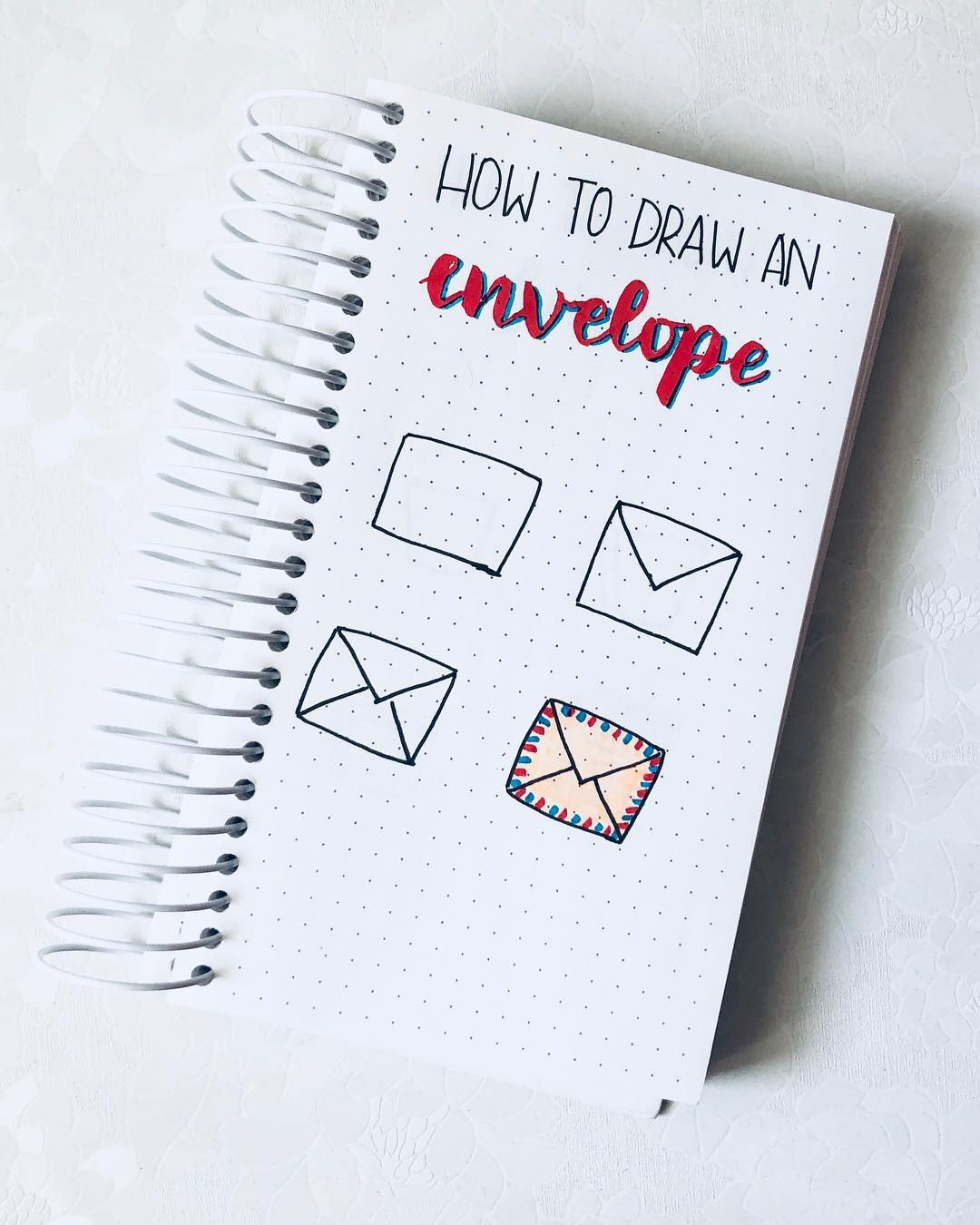 Junefolio On Instagram How To Draw An Envelope A Sealed