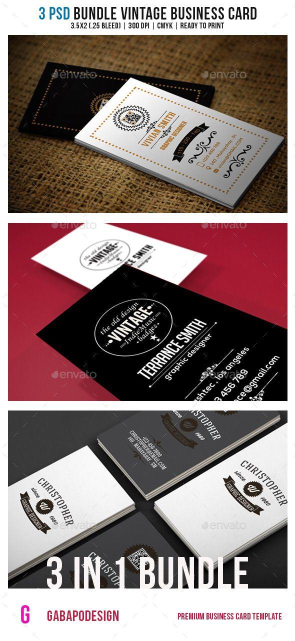 Vintage Business Card Bundle Vintage Business Cards Vintage Business Card Design Retro Business Card