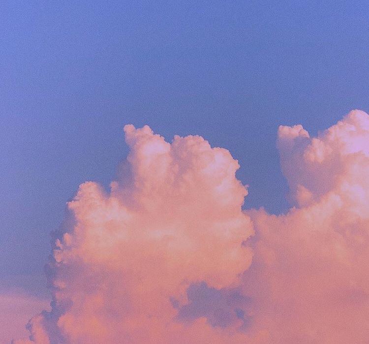 Clouds Aesthetic Art Painting Pink Tumblr Wallpaper