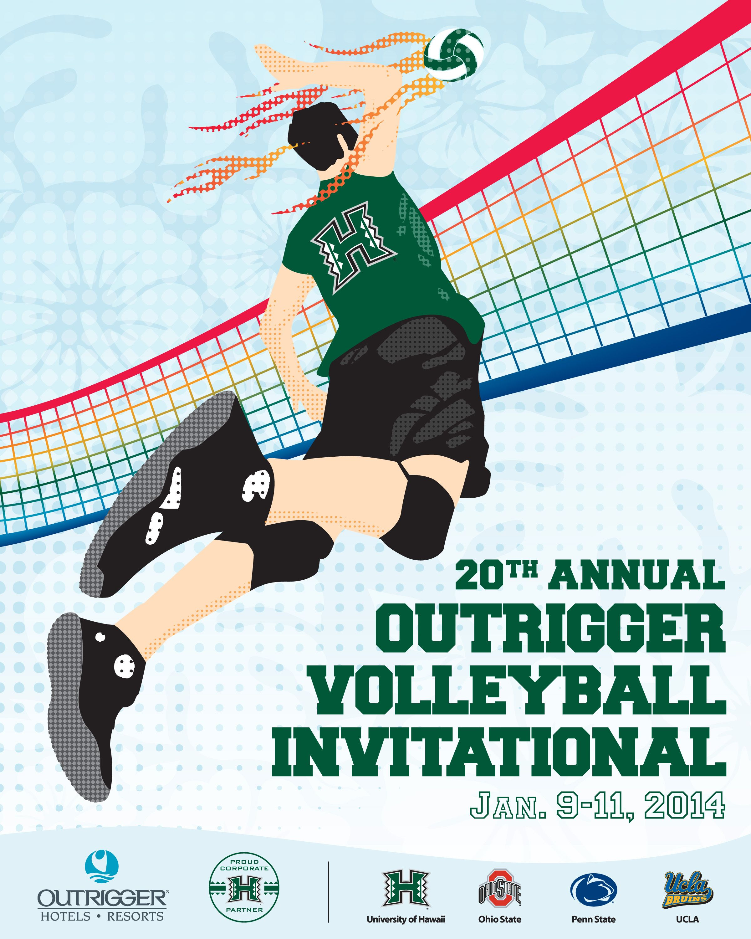 Outrigger Starts The New Year With Two Major Sporting Events Volleyball Poster Sport Event Volleyball Posters Sports Style Girl